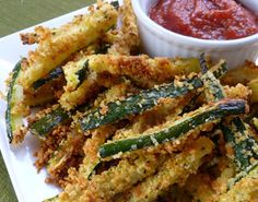 Oscar party menu: baked zucchini fries