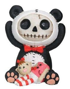 NEW Furrybones Furry Bones Black Bacon Piggy Bank Skeleton Figurine Gift 8210