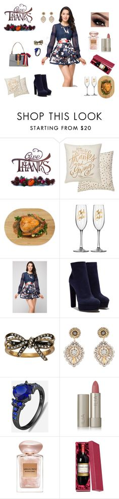 """""""Thanksgiving invitation"""" by chictochicfashionista ❤ liked on Polyvore featuring Primitives By Kathy, Architec, Casadei, Gucci, Marc Jacobs, Miguel Ases, Ilia and Giorgio Armani"""