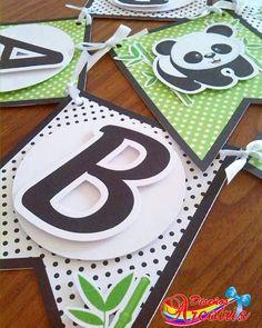 """Diseños Arcoiris on Instagram: """"Más detalles del #banderin con motivo de #osopanda🐼 con apliques para darle efecto relieve. #diseñosarcoiris #papeleriacreativa #pandabear…"""" Panda Birthday Party, Panda Party, Bear Party, Birthday Party Themes, Decor Crafts, Diy And Crafts, Panda Baby Showers, Panda Bebe, Ribbon Banner"""