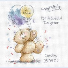 Forever Friends - Happy Birthday - counted cross stitch kit Coats Crafts