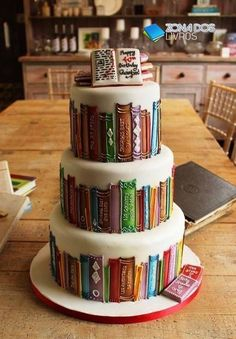 Book-Cake. Thinking someone should make me this for my birthday.