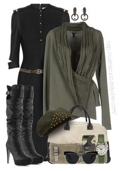 """""""Military-Inspired Outfit"""" by celinecucci ❤ liked on Polyvore featuring Victoria Beckham, Nanni, European Culture, Sergio Rossi, Trilogy, Jack Spade, Mimco and Woolrich"""