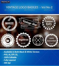 7 Vintage Logo Badges - Vol 2 - MagicPixelz | Buy and Download: http://graphicriver.net/item/7-vintage-logo-badges-vol-2-magicpixelz-/6634633?WT.ac=category_thumb&WT.z_author=MagicPixelz&ref=ksioks