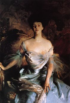 ▴ Artistic Accessories ▴ clothes, jewelry, hats in art - John Singer Sargent | Mrs. Joseph E. Widener, 1903