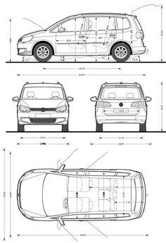 Volkswagen Touran. Altijd handig om de maten te weten.