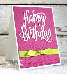 A Fresh Take On The Softly Falling Embossing Folder Happy Birthday CardsDiy