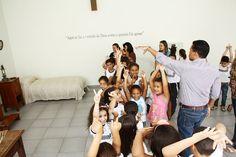 Crianças conhecem um pouco mais sobre a vocação redentorista na festa em Curvelo/MG.