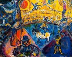 Marc Chagall [French, born Russia (present-day Belarus), The Circus Horse (Le cheval de cirque), Gouache and brush and India ink on paper, x inches x cm). Marc Chagall, Pablo Picasso, Chagall Paintings, Raoul Dufy, Frank Stella, Most Famous Paintings, Circus Art, Georges Braque, Naive Art