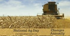 """@worktogether.15: """"NATIONAL AG DAY National Ag Day is observed annually.  This day is a day for all to recognize and celebrate the abundance provided by agriculture across the United States.  American agriculture plays a very critical economic and food security role in our country.  Farm co-ops universities 4-H clubs agricultural associations FFA clubs businesses and other organizations at the city county and state levels celebrate with a variety of events that give the general public an…"""