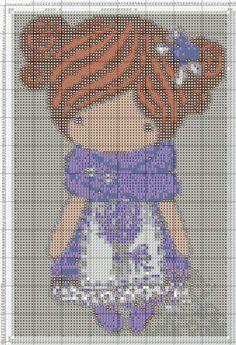 Magic Dolls - Grille 7 Cross Stitch Books, Cross Stitch Needles, Cute Cross Stitch, Beaded Cross Stitch, Cross Stitch Kits, Cross Stitch Designs, Cross Stitch Embroidery, Cross Stitch Patterns, Stitch Doll