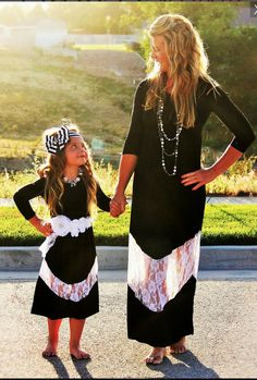 Mommy   Me Black White Lace Boutique Maxi by AbigailJadeBoutique Mommy And Me  Dresses 17c77f2b6
