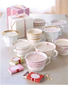 23 DIY Birthday Gift Ideas, Tea Cup Lights