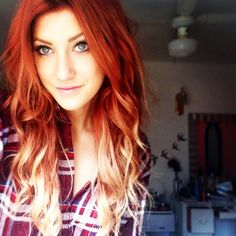 red ombre...yes! I would have to darken my roots maybe though...