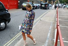 The Best Street Style From London Fashion Week – Vogue. Mary Katrantzou dress