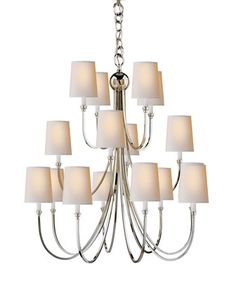 Reed Extra-Large 16-Light Chandelier by Visual Comfort at Horchow.