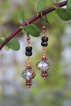 wire wrapped jewelry handmade copper earrings by shahrinalam, $14.00