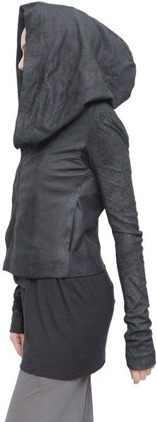 a86a8db30a5 Rick Owens Leather Jacket in Black - Lyst Leather Vest