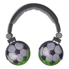 Soccer ball on grass headphones #soccerball #headphones