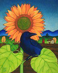 Stacey Neumiller - Crow in the Garden
