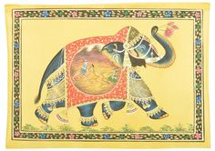 Oil paintings – Mughal Camel warriors battle an Indian war Tiger – a unique product by IndianCraftPalace on DaWanda