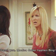 Monica Geller hyphen Bing!