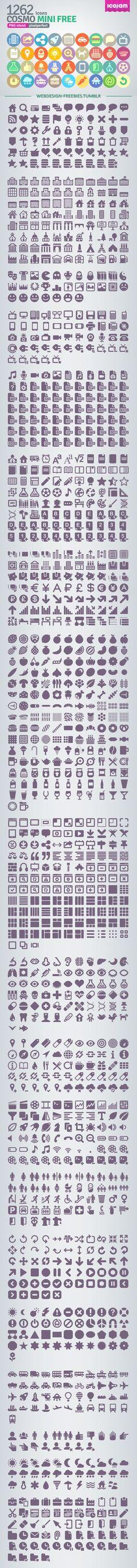 Cosmo Mini - Free Icon Set