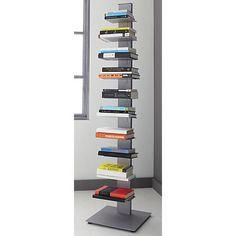 array silver bookcase in view all furniture | CB2