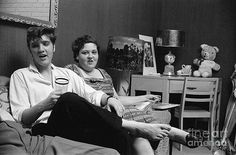 Elvis Presley and his mother Gladys 1956 - At His Home On Audubon Dr. - 1956
