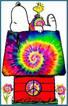 ☮ American Hippie Peanuts - Hippie Snoopy