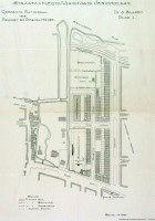 Stratenplan van bouwpercelen in Jaffa. Afgebeeld is het gebied tussen de Oudedijk, de Jericholaan, de Kralingsche Plaslaan en Jaffa. Datering:1914