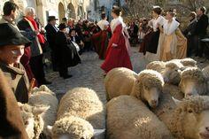Noël Baux de Provence - moutons et costumes traditionnels provençaux