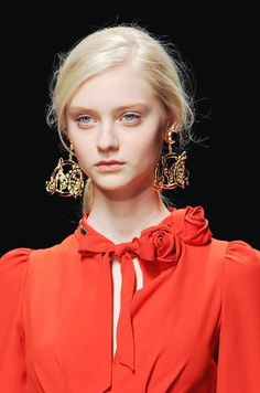 Um, I feel like these earrings need to be mine...M for Melinda right?? (ok, Moschino...FW 13)