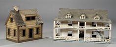 Painted Wood Birdhouses, late 19th century