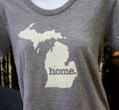 Michigan Home. Tshirt Womens Cut by HomeStateApparel on Etsy, $21.95