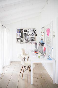 Work space, bright, white