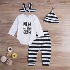 Newborn Toddler Infant Kids Baby Boys Girls New Cotton Long Sleeve Romper Pants Leggings Outfits Clothes Cute Baby Clothes, Clothes For Sale, Long Sleeve Romper, Long Sleeve Tops, Jumpsuit With Sleeves, 2 Piece Outfits, Romper Pants, Sweater Hoodie, Outfit Sets