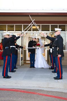 marine wedding traditions