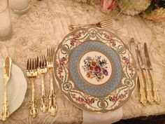 Victorian wedding place setting
