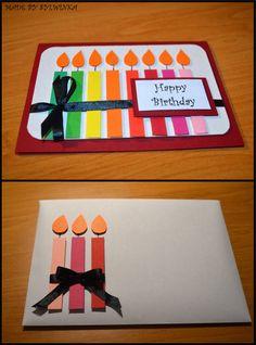 Ręcznie robiona Kartka Urodzinowa, Ręcznie robiona Koperta Urodzinowa, Handmade Birthday Card, Made by Sylwinka :)