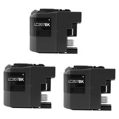 N 3 PK LC207 BK XXL Compatible Inkjet Cartridge For Brother DCP-J4120DW MFC-J4420DW