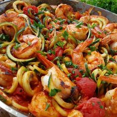 Flavorful, yet so SIMPLE - this one will become a go-to during the Summer months Serves 4-6 Ingredients: 8 plum tomatoes sea salt freshly ground black pepper 2 tsp. extra virgin olive oil 1.5 lbs shrimp (peeled & deveined) 1 clove garlic , peeled and finely chopped 1 lemon , both zest and juice...