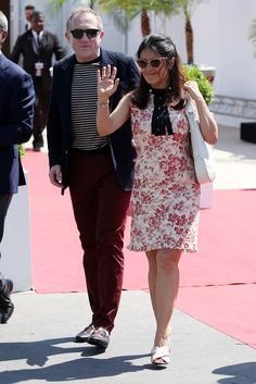 Salma Hayek and her husband were definitely the most stylish couple at Cannes