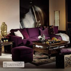 Love the Eggplant colored sofa. I could curl right up here and just BE