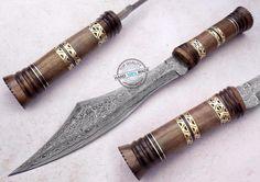 "17.00"" Custom Hand Made Beautiful Damascus steel Bowie Knife (862) #UltimateWarrior"