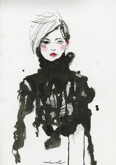 Sister by Sibling illustrated by Conrad Roset. i am very influenced by the softness of this illustration showing an element of clothing like a dark bold jumper