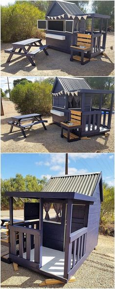 Here we would add you up with the idea of wood pallet outdoor kids playhouse setting that has the modern form of the impact work in it. You would probably be finding such kind of the design ideas in the outdoor locations. It gives out an attractive and much awe-inspiring image to the whole surrounding. #gardenplayhouse