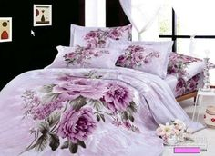 Purple Lilac Floral Bedding Comforter Set King Queen Size Bedspread Duvet Cover Bed in a Bag Sheets Sheet Linen Quilt 100 Cotton, $138.22 | DHgate.com