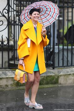 #ElisaNalin at Paris fashion week #PFW #streetstyle. Picture by @MariePaolaBH