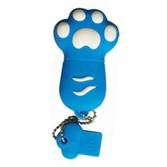 Introducing Cats Paw USB 20 Flash Drive Memory Stick USB 20 Memory Disk 32GB Blue. Great product and follow us for more updates!